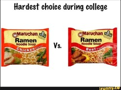 Hardest choice during college 