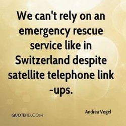 We can't rely on an 