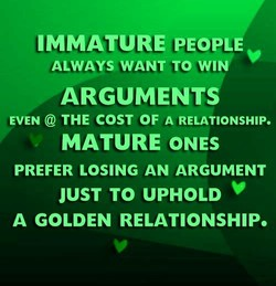 IMMATURE PEOPLE 