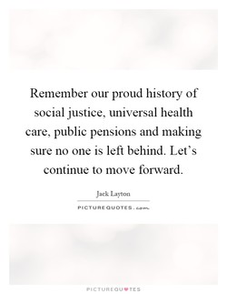 Remember our proud history of 
