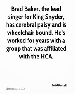Brad Baker, the lead 