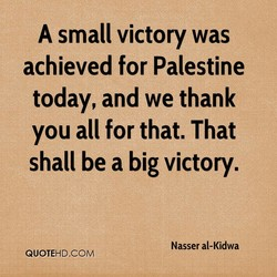 A small victory was 