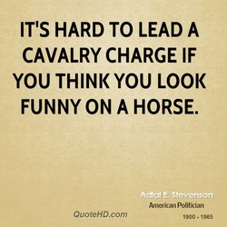 IT'S HARD TO LEAD A 