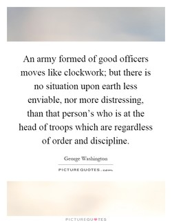 An army formed of good officers 