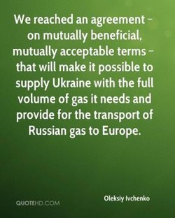 We reached an agreement - 