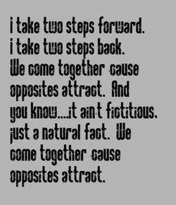 i take ti!J0 steps forgard. 