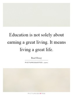 Education is not solely about 