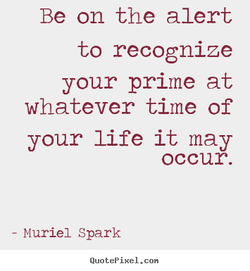 Be on the alert 