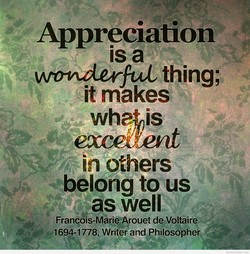 Appreciation 
