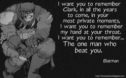 I want you to remember 