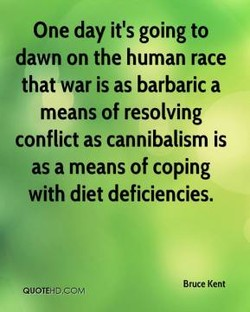 One day it's going to 