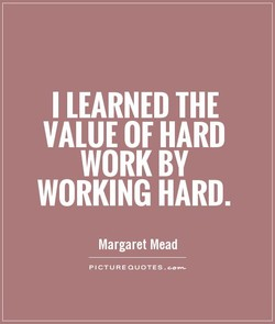 I LEARNED THE 