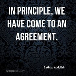 IN PRINCIPLE, WE 