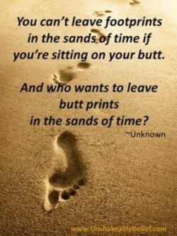 You can't leave footprints 