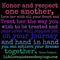 Honor and respect 