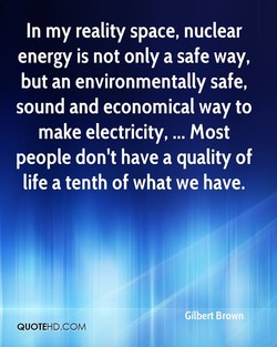 In my reality space, nuclear 