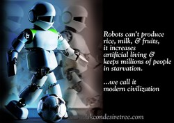 Robots can't produce 