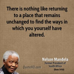 There is nothing like returning 