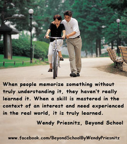 When people memorize something without 