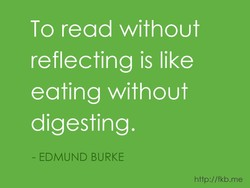 To read without 