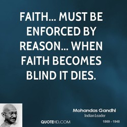 FAITH... MUST BE 