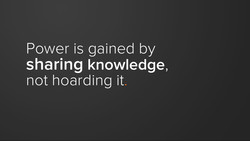 Power is gained by 