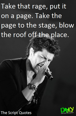 Take that rage, put it 