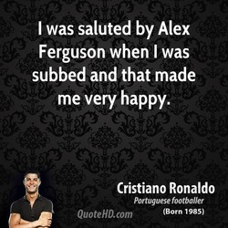 I was saluted by Alex 