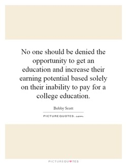 No one should be denied the 