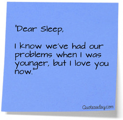 IIDear Sleep, 