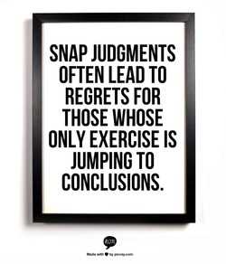 SNAP JUDGMENTS 