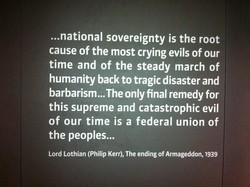 ...national sovereignty is the root 