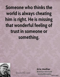Someone who thinks the 