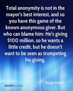 Total anonymity is not in the 