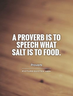 A PROVERB TO 