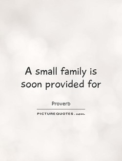 A small family is 