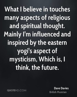 What I believe in touches 