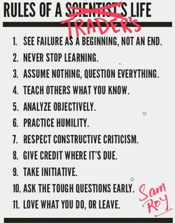 2. NEVER STOP LEARNING. 