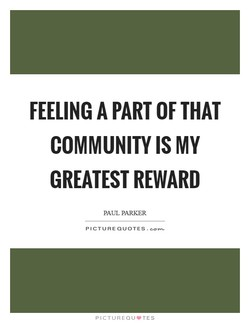 FEELING A PART OF THAT 
