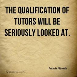 THE QUALIFICATION OF 