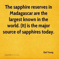 The sapphire reserves in 