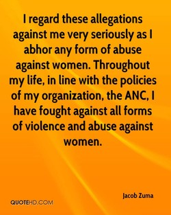 I regard these allegations 