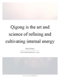 Qigong is the art and 