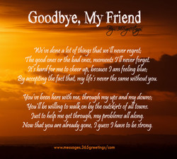 Goodbye, My Friend 