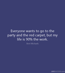 Everyone wants to go to the 