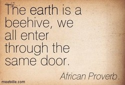 The earth is a 