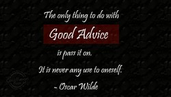 The only thing fo do with 