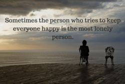 Sometimes the person who tries to keep 