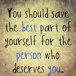 You slould saw 