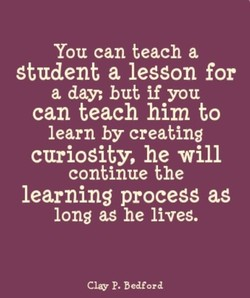 You can teach a 
